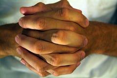 Mains pliées Images libres de droits