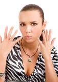 mains posant la femme photos stock
