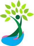 Mains retenant l'arbre Images libres de droits