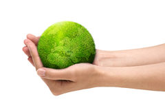 mains retenant la planète illustration libre de droits