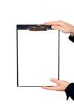 Mains retenant la planchette #8 Images libres de droits