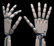 Mains robotiques Image stock