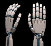 Mains robotiques Images stock