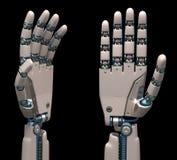 Mains robotiques Photos libres de droits