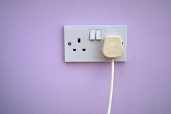 Mains socket and plug Stock Images