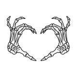 Mains squelettiques illustration stock