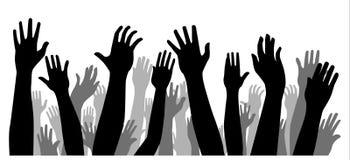 Mains sur le blanc Photos libres de droits