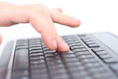 Mains sur le clavier Photos libres de droits