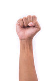 mains 0 sur les milieux blancs Image libre de droits