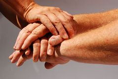 Mains symbolisant la communauté Photographie stock libre de droits