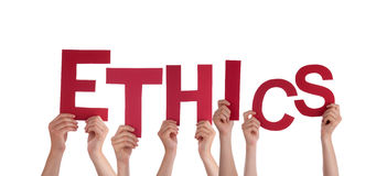 Mains tenant l'éthique Photos libres de droits