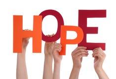 Mains tenant l'espoir Photo libre de droits