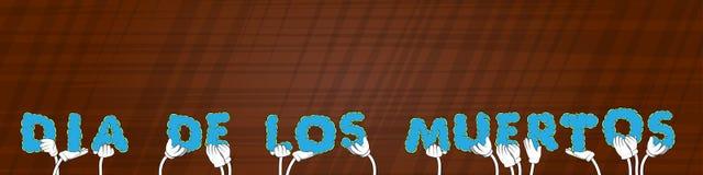 Mains tenant le jour de Dia de los Meurtos de mot des morts dans l'Espagnol Vecteur Illustratio illustration de vecteur
