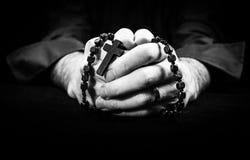 Mains de prière Image stock