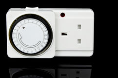 Mains Timer Adapter. UK version socket Stock Photo
