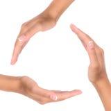 mains trois Images libres de droits
