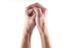 Mains unies Image libre de droits