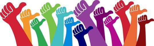 Mains volontaires Image libre de droits