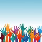 Mains volontaires d'aide Images libres de droits