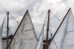Mainsail корабля ветрила стоковая фотография rf
