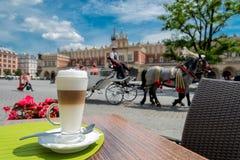 Mainsquare i Krakow Royaltyfria Bilder