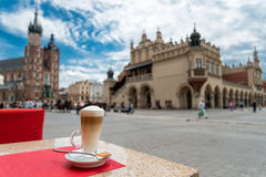 Mainsquare in Krakow Stock Photos
