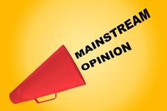 Mainstream Opinion concept Stock Photo