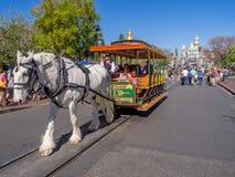 Mainstreet de V.S. bij Disneyland Park stock foto