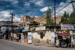 Mainstreet en Leh Imagenes de archivo