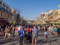 Mainstreet Etats-Unis au parc de Disneyland Photos libres de droits