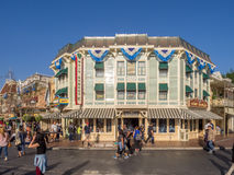 Mainstreet Etats-Unis au parc de Disneyland Photos stock