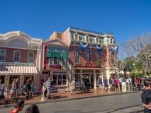 Mainstreet usa przy Disneyland parkiem Obrazy Stock