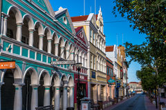 Mainstreet Willemstad Curacao stock image