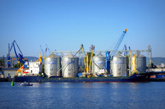 Maintain the cleanliness of sea water port Stock Photography