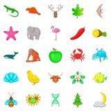 Maintain the wildlife icons set, cartoon style Stock Photos