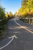 Maintained multi-use trail in Edmonton, Albereta Stock Images