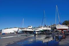 Maintaining boats Royalty Free Stock Photo