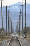 Maintaining Rail Track Stock Photos