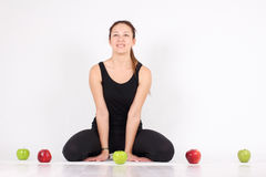 She maintains a healthy lifestyle Royalty Free Stock Photo