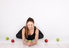 She maintains a healthy lifestyle Royalty Free Stock Photography