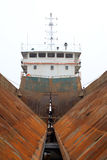 Maintenance of barges Stock Images