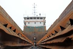 Maintenance of barges Royalty Free Stock Images