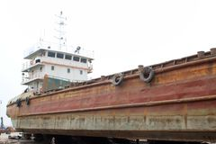 Maintenance of barges Royalty Free Stock Photography
