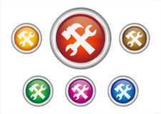 Maintenance button icon Royalty Free Stock Photography