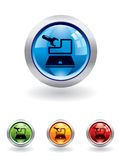 Maintenance button from series. In my portfolio Royalty Free Stock Image