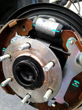Maintenance car brakes hub in garage Stock Photography