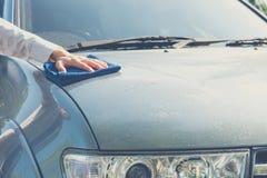 Maintenance car ,cleaning car Stock Photo