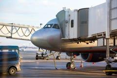 Maintenance of civil aircraft Stock Photography