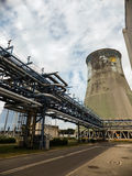 Maintenance of the concrete walls  cooling tower Stock Photos