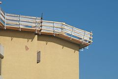 Maintenance construction of a roof Stock Photography